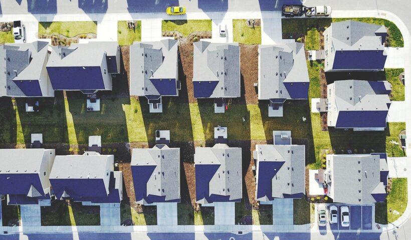 overhead photo of neighborhood
